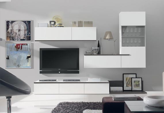 Bien placer la t l vision et le meuble tv am nagement maison blog am nage - Amenagement bibliotheque salon ...