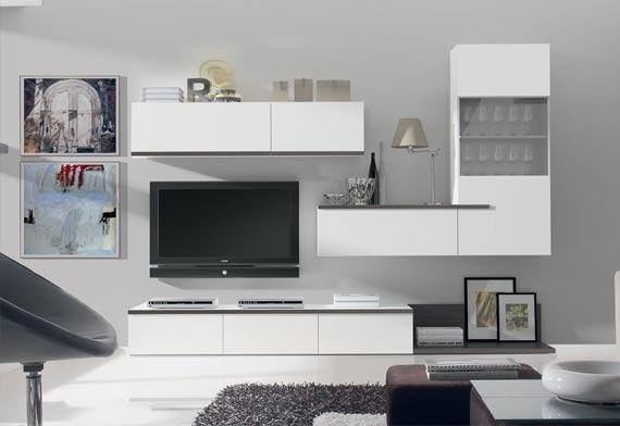 Bien placer la t l vision et le meuble tv am nagement - Meuble tv avec bibliotheque ...